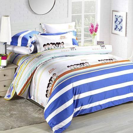 2016春季全棉柔丝缎活性四件套 全棉高档套件床单款床上用品