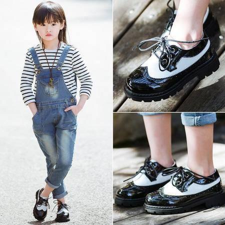 2016春秋新款女童皮鞋英伦风男童鞋韩版儿童单鞋学生鞋