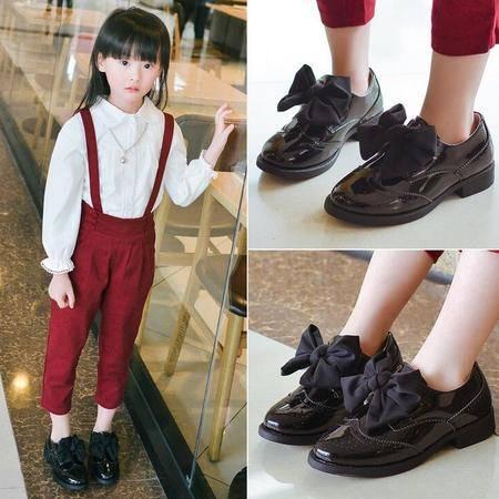 2016年春款 女童 英伦小皮鞋休闲单鞋韩版潮儿童