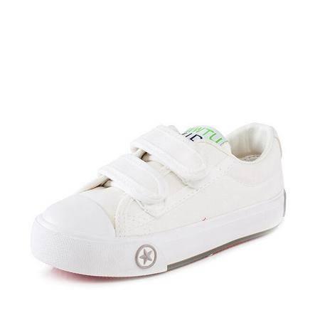 童鞋2016春季新品童鞋帆布鞋运动会纯色板鞋小白鞋透气