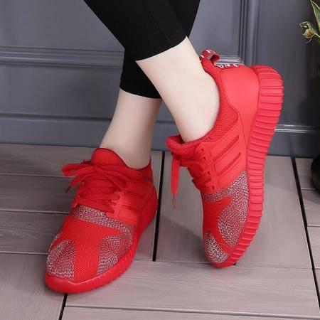 女鞋新款平底透气休闲运动小红鞋学生鞋女单鞋