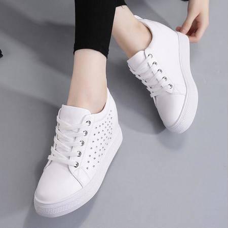 女鞋新款批发平底增高跟水钻休闲运动鞋学生鞋女单鞋
