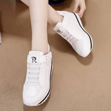女鞋新款平底增高跟休闲运动鞋学生鞋单鞋女