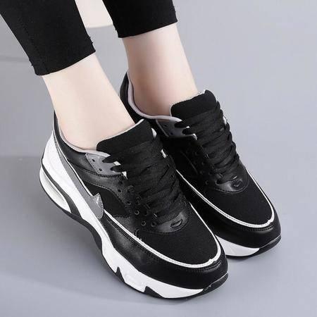 女鞋新款平底系带休闲运动鞋学生鞋单鞋女
