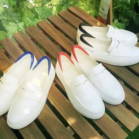 2016夏新款牛皮韩版时尚小白鞋板鞋拼色厚底学生鞋休闲运动鞋