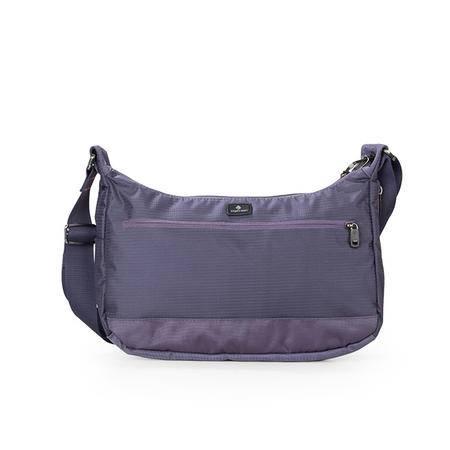 紫色小挎包
