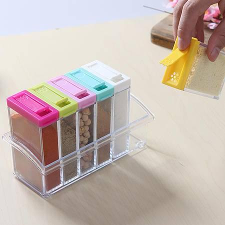 仁爱 塑料 调料盒  RA-772 六件套