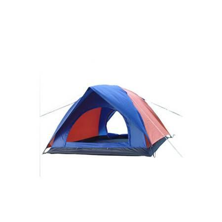 供应三人双层双开门帐篷 带防风绳 家庭帐篷 三人帐篷