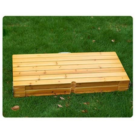 批发户外桌椅 花园桌椅 木连体桌椅五件套 室外休闲餐桌椅