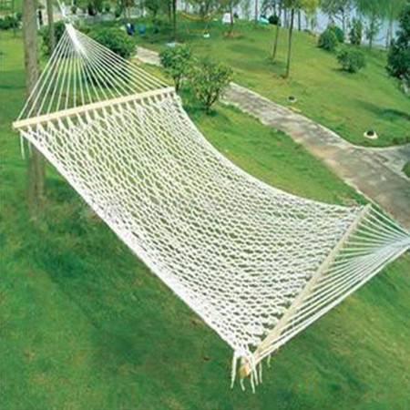 75股棉绳吊床,网眼吊床,带棒户外吊床,吊床批发