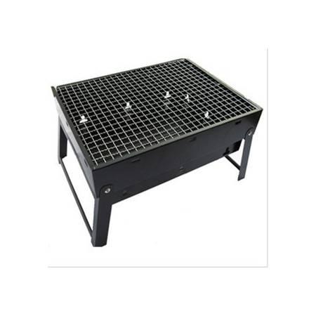 供应黑钢烧烤炉 户外炉 便携式烤炉 木炭 烧烤架 小额批发