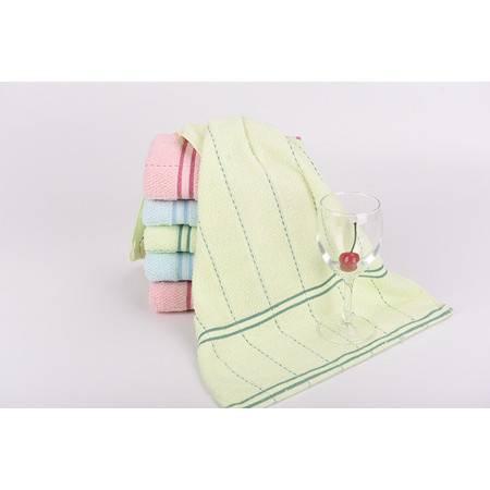 包邮玉鹿弱捻全棉素色丝带吸水耐用缎档毛巾(3条装)