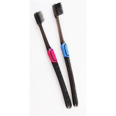 益达成人牙刷 进口竹炭超柔刷丝2支装 超柔软细毛软毛