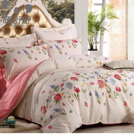 暖舒舒  床上用品潮流风尚全棉四件套 加大款 小清新