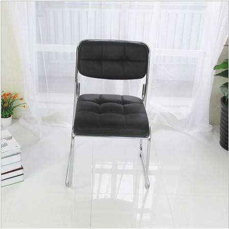 办公椅 弓形职员会议室椅子培训椅九宫格厚座海绵椅
