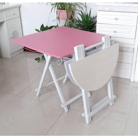 简易折叠桌便携式正方形折叠餐桌小户型家用吃饭桌子