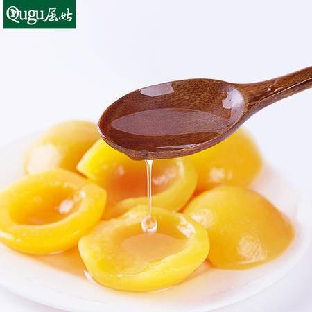 屈姑新鲜天然砀山水果罐头 对开糖水黄桃罐头425gx4罐