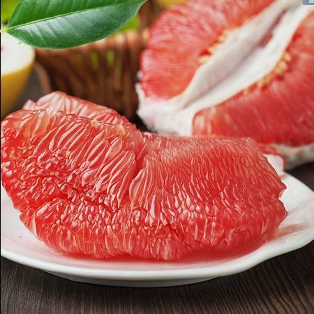 【福建特产】吉春水果 新鲜琯溪蜜柚 红肉蜜柚 红心皮薄多汁蜜甜水果 2粒装包邮