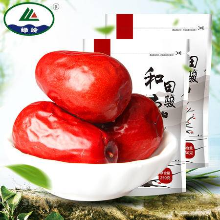 【绿岭】 新疆特产干果 和田大枣子玉枣 一级和田骏枣250g×2袋
