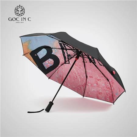 GOC INC 智能APP防丢 晴雨伞 双层防晒紫外线遮阳太阳伞  BANG