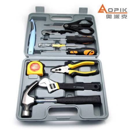 奥派克APK-8810五金工具组合家用工具组套装汽车应急工具箱正品包邮