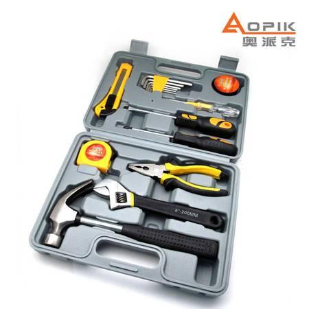 奥派克APK-8809五金工具组合家用必备套装汽车应急工具箱锤子扳手正品包邮