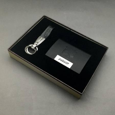 萨博尔LS-639(黑玫瑰)钥匙扣 +名片盒商务套装