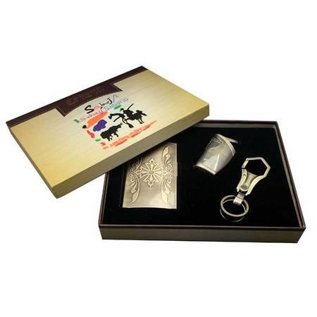萨博尔LS-637(铁甲勇士)名片盒+钥匙扣+打火机精品套装