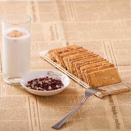 淮南特产132克原味豆麸饼干大豆膳食纤维营养美味休闲食品酥性粗粮饼干 早餐伴侣健康低糖食品