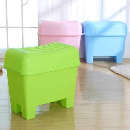儿童大号玩具收纳箱创意收纳凳储物凳塑料换鞋凳防水浴室防滑凳子