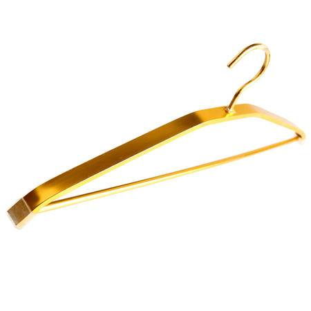 妙美16223高档三角太空铝加粗加厚撑衣架金银两色可选