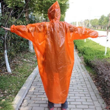 户外旅游垂钓一次性雨衣加厚便携式连体纽扣式松紧雨衣雨披