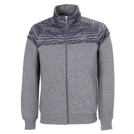 特步运动外套男针织上衣2016秋季新款正品立领休闲运动服保暖男装