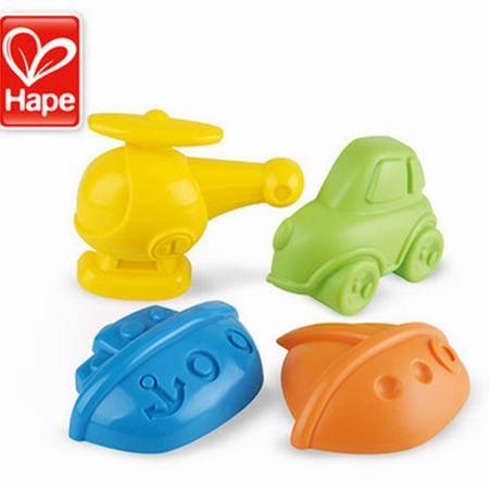 德国Hape 儿童沙滩玩具 玩沙挖沙工具大号 宝宝戏水玩具 交通工具