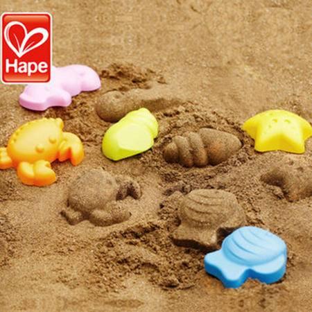 德国Hape儿童戏水洗澡 特大号沙滩玩具套装 玩沙工具 海滨动物