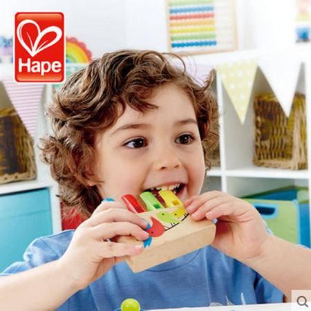 德国Hape 彩虹排笛 儿童笛子口哨玩具 宝宝音乐吹奏益智 木制