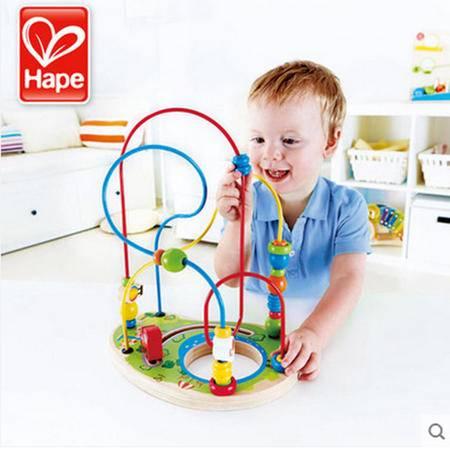 德国hape 宝贝乐园绕珠 2-3岁宝宝益智玩具多功能创意串珠
