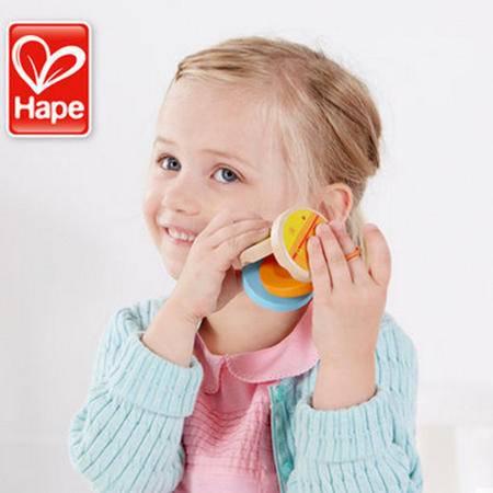 德国Hape 响板打击乐器 1-2岁 儿童早教益智木制 宝宝生日礼物