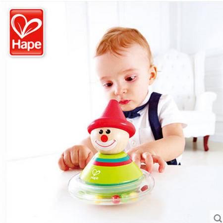 德国Hape小丑不倒翁 婴儿玩具 早教 宝宝儿童木制6-12个月益智