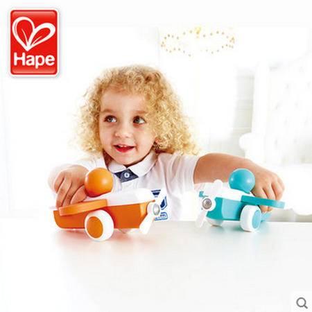 德国Hape宝宝飞机滑行车木制 儿童益智玩具婴幼儿宝宝 光滑无毛刺