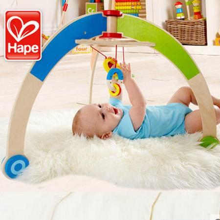 德国Hape婴儿健身架礼盒儿童木制幼儿早教 宝宝玩具 0-1岁礼物