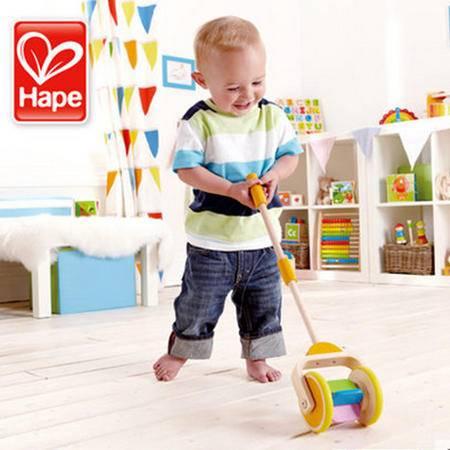 德国Hape宝宝学步车手推车 彩虹推推乐 儿童益智玩具1岁生日礼物
