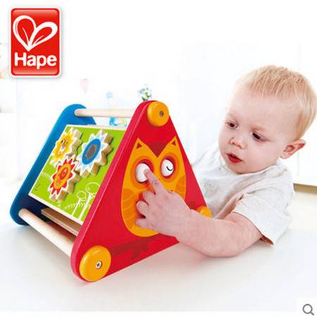 德国Hape启蒙三角游戏盒宝宝儿童益智早教木制多功能一岁宝宝玩具