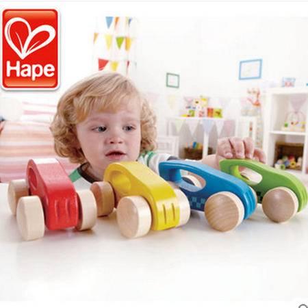 德国Hape木制迷你小车 专为婴幼儿设计的宝宝玩具小车 环保水性漆