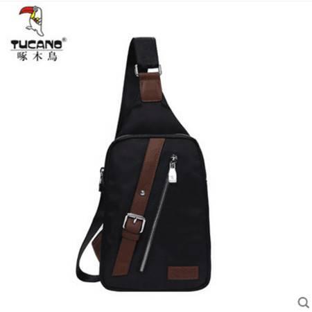 新款啄木鸟男士胸包休闲包斜挎包运动单肩包韩版背包潮尼龙包挂包