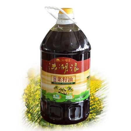 洪湖浪 非转基因 纯物理压榨 浓香菜籽油 5L/瓶