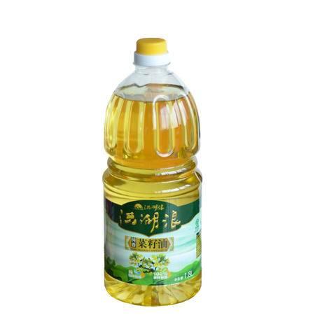 """【洪湖浪】洪湖纯香菜籽油1.8L家庭装 非转基因 纯物理压榨 """"双低""""菜籽油"""