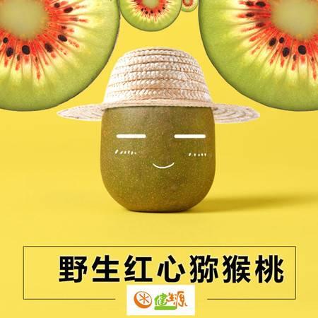 健生源 新鲜水果 长寿乡猕猴桃 红心奇异果5斤装 单果重70-100g