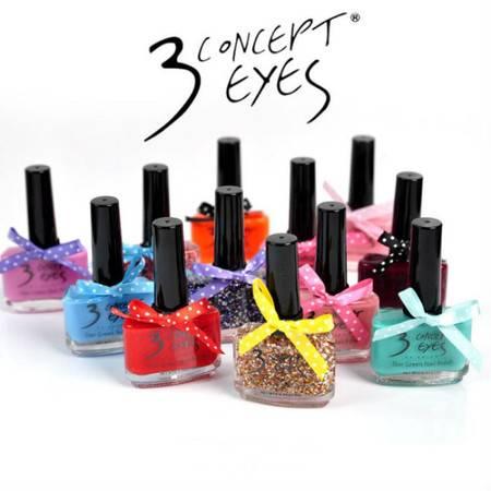 韩国专柜 3ce 三只眼蝴蝶结超萌漆式指甲油 三十色可选