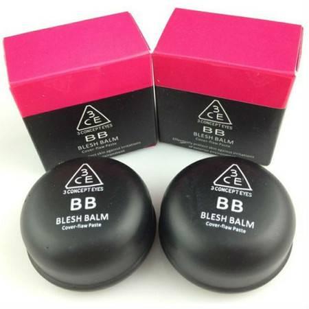 韩国专柜 3ce 三只眼粉底膏 黑眼圈雀斑遮瑕膏 两色可选